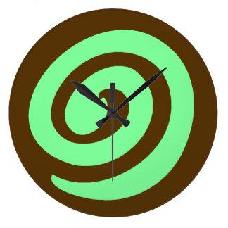 Chocolate Mint Pinwheel Cookie Large Clock
