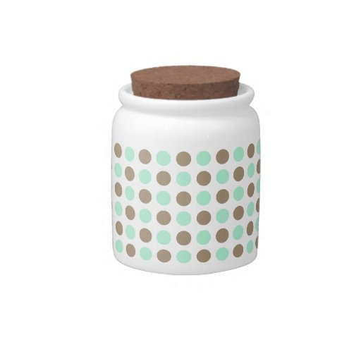 Chocolate & Mint Polka Dots Candy Dishes
