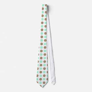 Chocolate & Mint Polka Dots Neck Tie