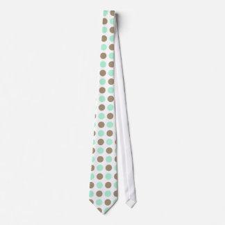 Chocolate & Mint Polka Dots Neck Tie