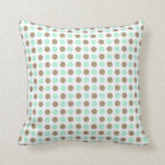 Chocolate & Mint Polka Dots Throw Pillows