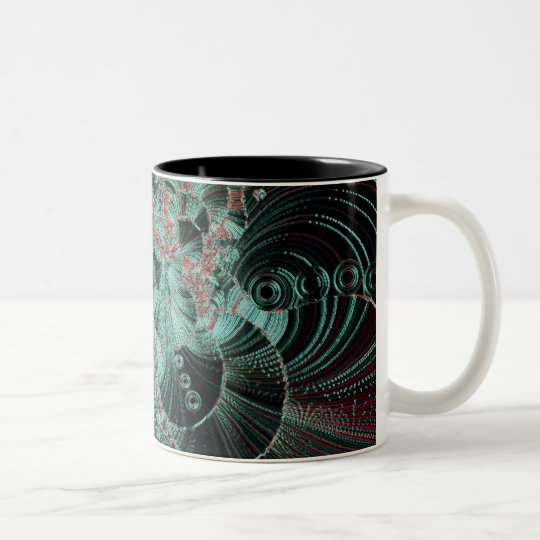 chocolate mint strawberry Two-Tone coffee mug