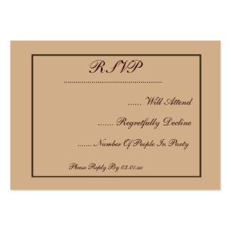 Chocolate Modern StyleWedding Large Business Cards (Pack Of 100)