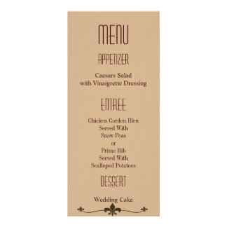 Chocolate Modern StyleWedding Rack Card