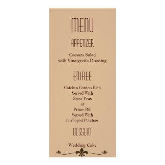 Chocolate Modern StyleWedding Full Color Rack Card