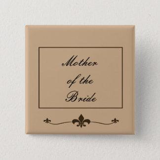 Chocolate Modern Wedding Button