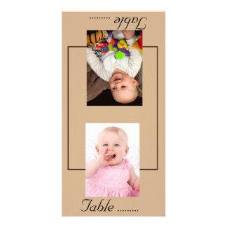 Chocolate Modern Wedding Card