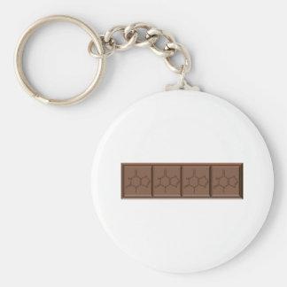 Chocolate Molecule Keychain
