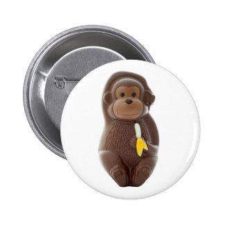 Chocolate Monkey Button