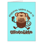 Chocolate Monkey Greeting Card