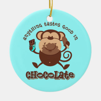 Chocolate Monkey Ornament