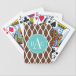"Chocolate Monogrammed Barcelona Print Bicycle Playing Cards<br><div class=""desc"">Chocolate Monogrammed Barcelona Print</div>"