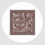 CHOCOLATE Monster TEMPLATE Resellers Welcome GIFTS Round Stickers