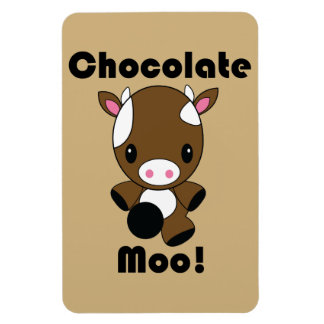 Chocolate Moo Kawaii Cow flexi magnet