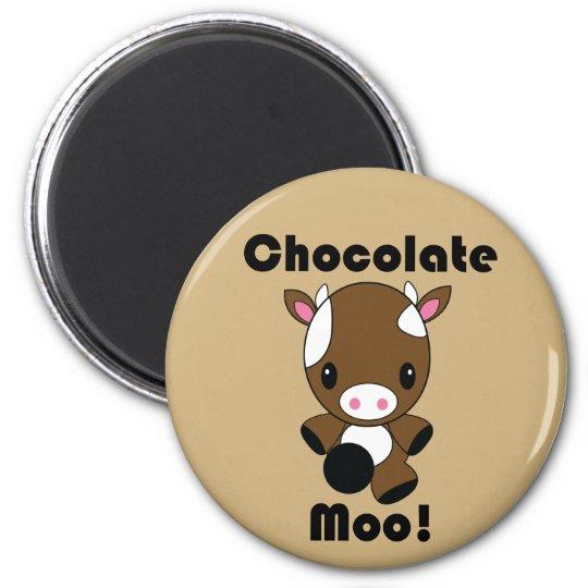 Chocolate Moo Kawaii Cow Magnet