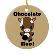 Chocolate Moo Kawaii Cow ornament