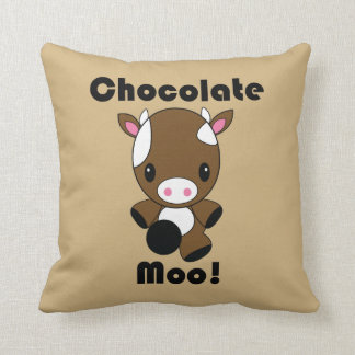 Chocolate Moo Kawaii Cow pillow