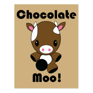 Chocolate Moo Kawaii Cow Postcard