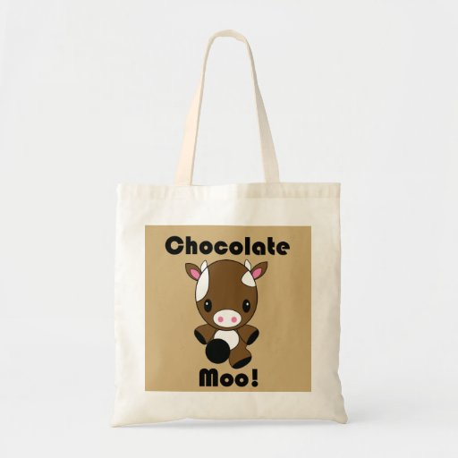 Chocolate Moo Kawaii Cow tote bag