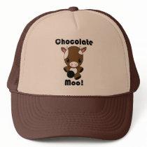 Chocolate Moo Kawaii Cow Trucker Hat