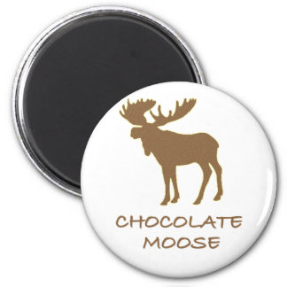 chocolate moose 2 inch round magnet