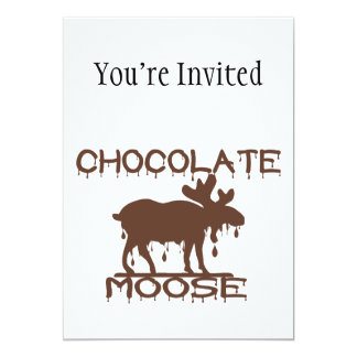 Chocolate Moose 5x7 Paper Invitation Card