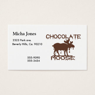 Chocolate Moose Business Card