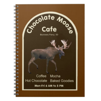 Chocolate Moose Cafe Spiral Note Books
