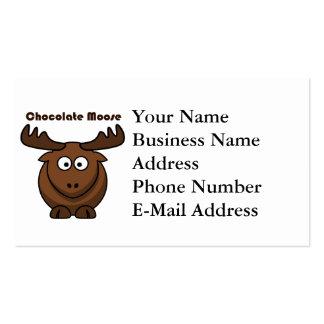 Chocolate Moose Cartoon Business Card