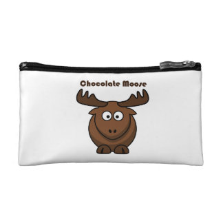 Chocolate Moose Cartoon Makeup Bag