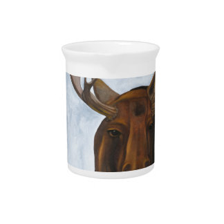 Chocolate Moose Drink Pitcher