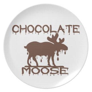 Chocolate Moose Melamine Plate