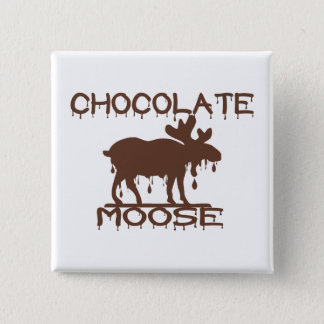 Chocolate Moose Pinback Button
