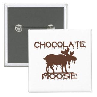 Chocolate Moose Pinback Button