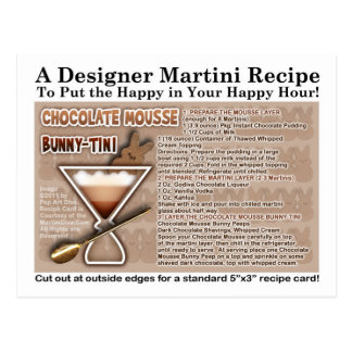 Chocolate Mousse Bunny Easter Martini Recipe Card