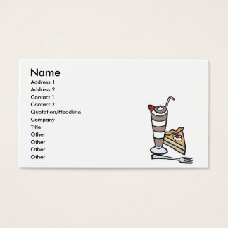 chocolate mousse dessert business card