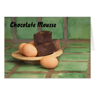 Chocolate Mousse Greeting Card