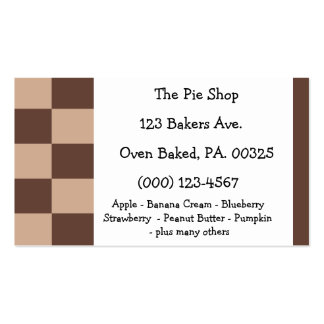 Chocolate Mousse Pie Colors Double-Sided Standard Business Cards (Pack Of 100)