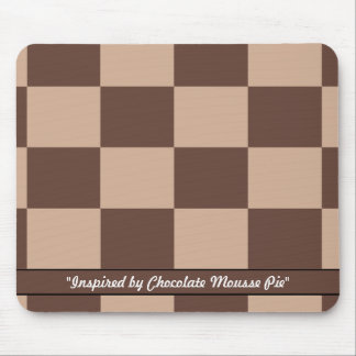 Chocolate Mousse Pie Colors Mouse Pad