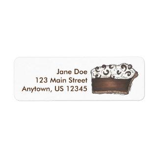 Chocolate Mousse Pie Slice Dessert Address Labels