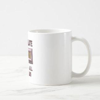 CHOCOLATE CLASSIC WHITE COFFEE MUG