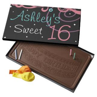 Chocolate negro de encargo del feliz cumpleaños barra de chocolate con leche grande