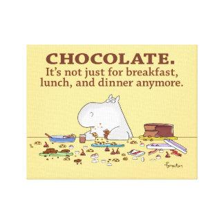 CHOCOLATE. NO APENAS PARA EL DESAYUNO. por Boynton Impresión En Lienzo