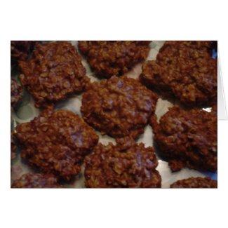 Chocolate No-Bake Cookies Recipe Greeting Cards