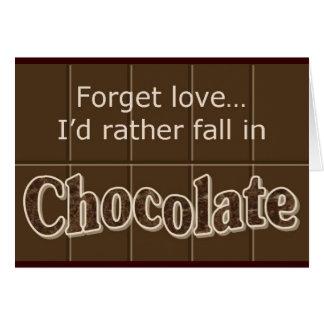 Chocolate notecard