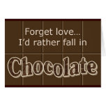 Chocolate notecard greeting cards