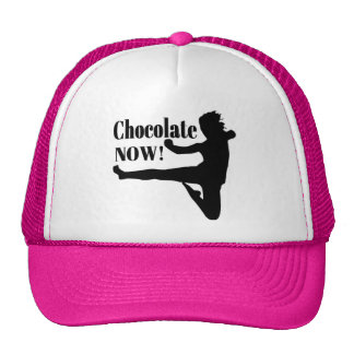 Chocolate Now - Black Silhouette Mesh Hat