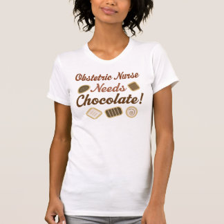 Chocolate obstétrico de la enfermera remera
