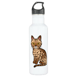 Chocolate Ocicat Cat Stainless Steel Water Bottle