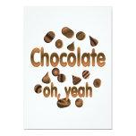 Chocolate oh, sí invitación 12,7 x 17,8 cm
